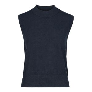 Cate Knitted Vest -  Navy