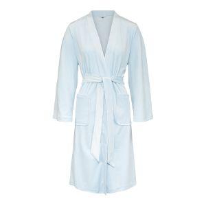 Carmen Velour Kimono - Light Blue