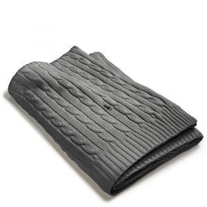 Cable Pledd 127x177 cm - Charcoal