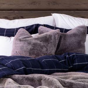 Faux Fur Pute 50x50 cm - Grey