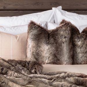 Faux Fur Pute 50x50 cm - Brown