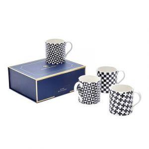 Boxed Op Art Mugs - Set of 4