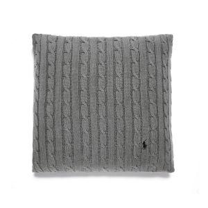 Cable Putetrekk 45x45 cm - Charcoal