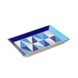 Sorrento Rectangle Tray - Blue/White