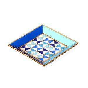 Sorrento Square Tray - Blue/White