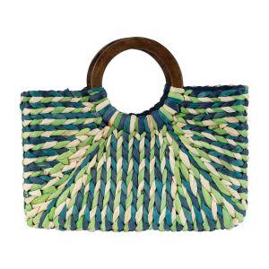 Beach Bag - Blue/Light Green