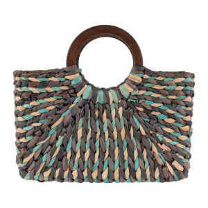 Beach Bag - Dark Blue/Green