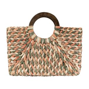 Beach Bag - Light Coral/Green